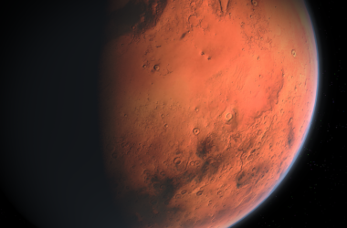Loď s posádkou na Marsu